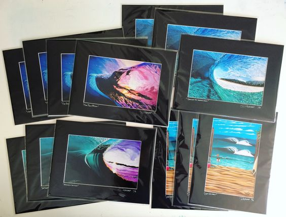 show kits by Luke used to sell art work with matting and bags